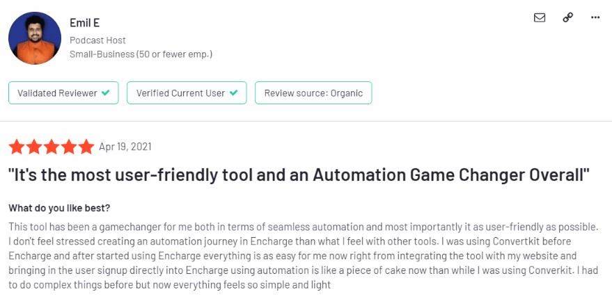 encharge email marketing automation tool