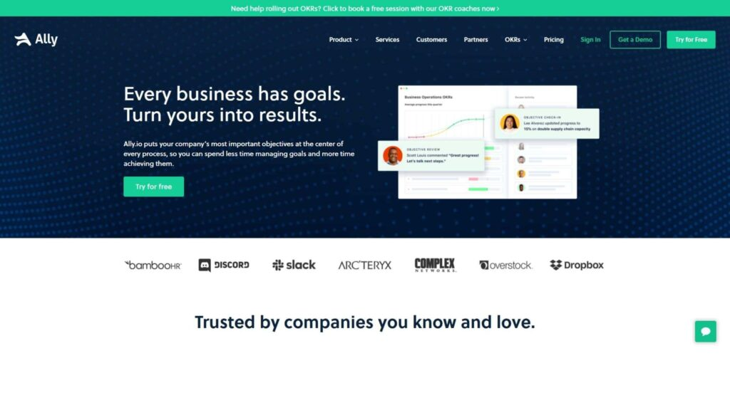 ally-okr-software-company